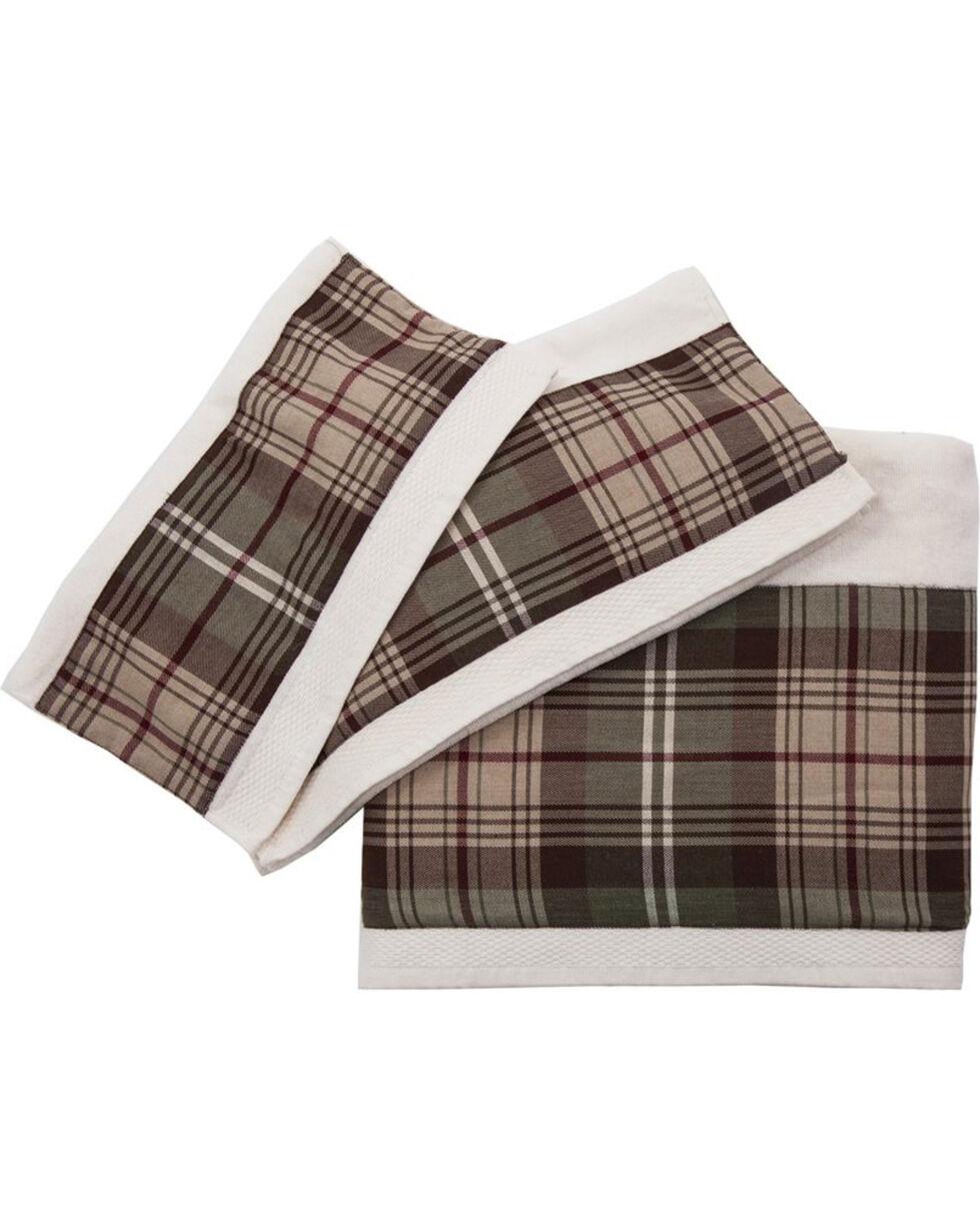 HiEnd Accents Forest Pines Plaid Towel Set, Cream, hi-res