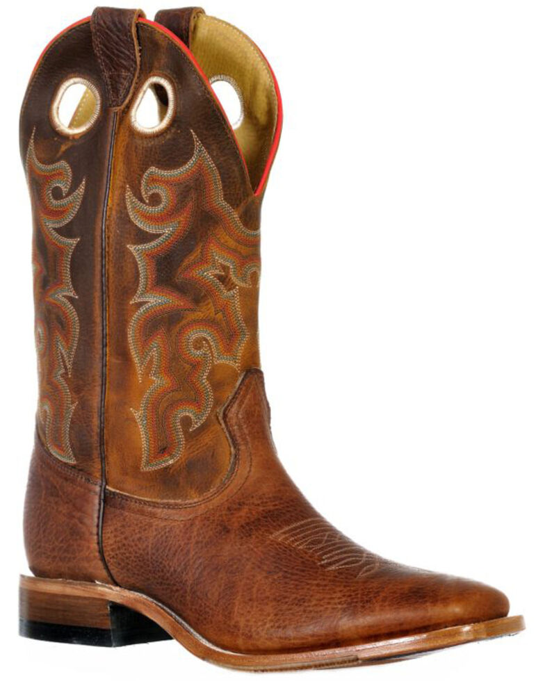 Boulet Men's Ambergold Western Boots - Wide Square Toe, Brown, hi-res