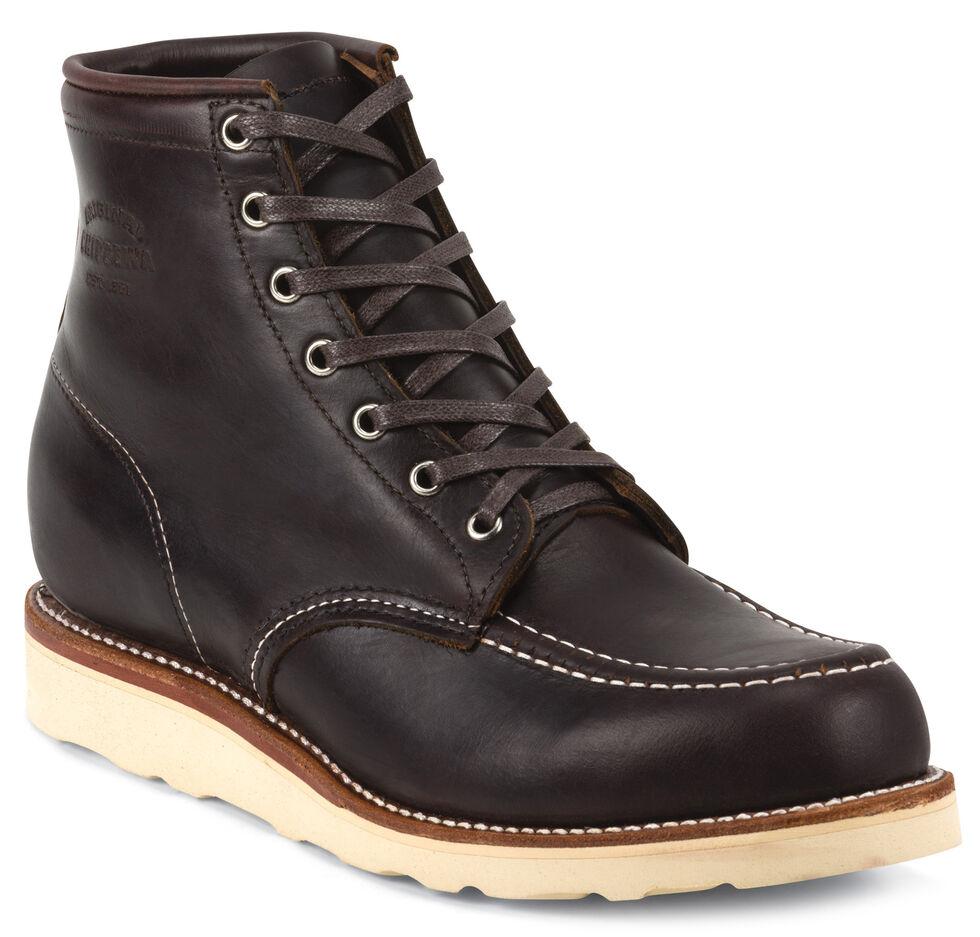 Chippewa Men's Cognac General Utility Boots - Moc Toe, Cognac, hi-res