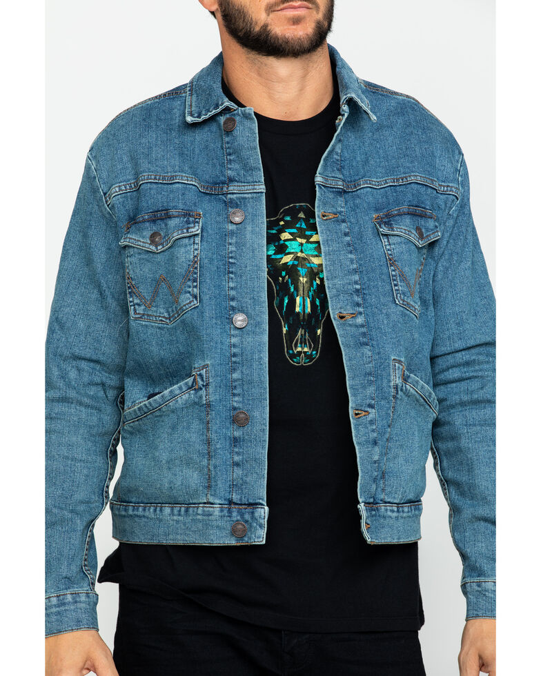 Wrangler Retro Men's Unlined Worn Indigo Denim Jacket , , hi-res