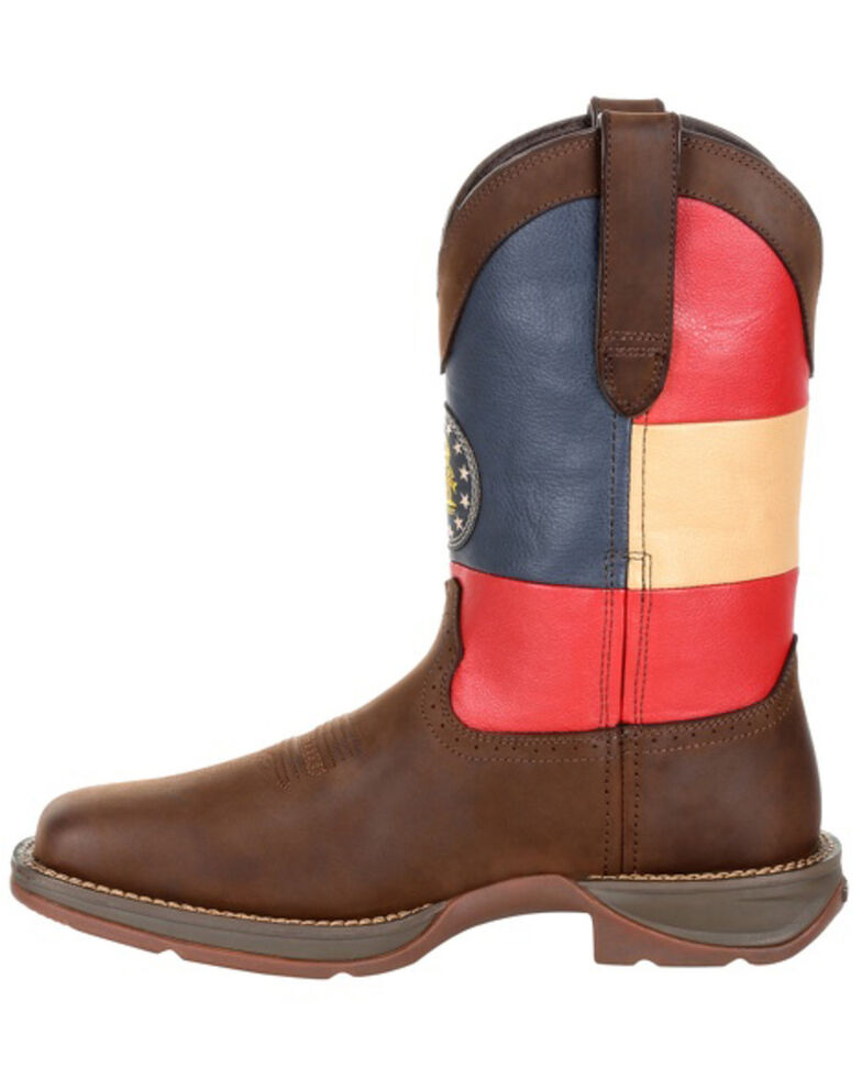 Durango Men's Georgia State Flag Western Boots - Square Toe, Brown, hi-res