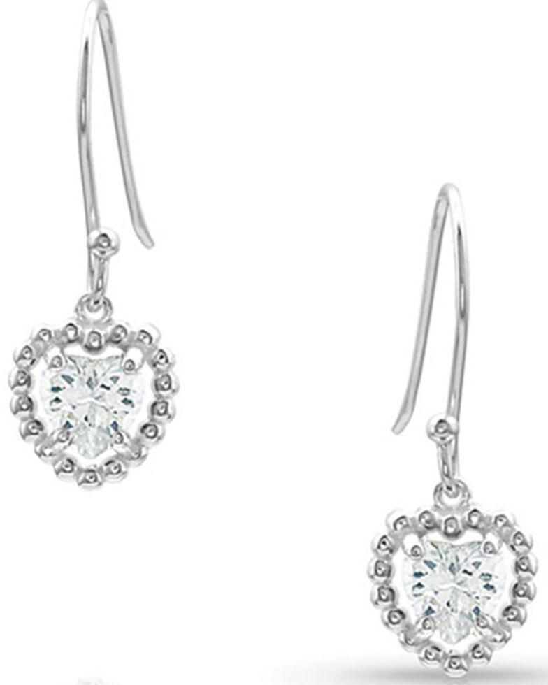 Montana Silversmiths Women's Frozen Heart Earrings, Silver, hi-res