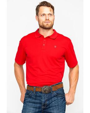 Ariat Men's TEK Short Sleeve Polo Shirt , Orange, hi-res