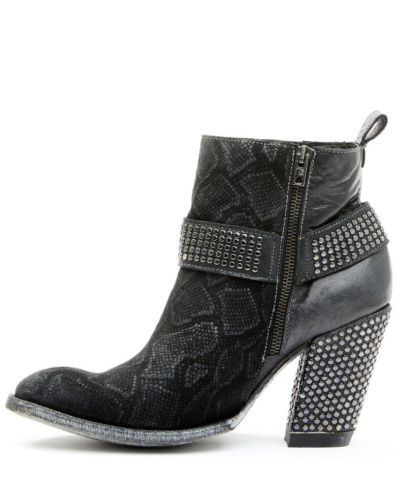 Old Gringo Women's Connie Fashion Booties - Round Toe, Black, hi-res