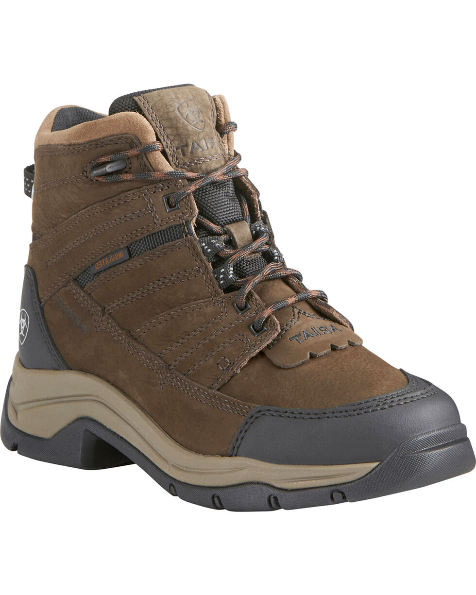 Ariat Women's Terrain Pro H20 Insulated Boots, Brown, hi-res