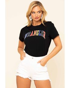 Wrangler Modern Women's Black High Rib Tee, Black, hi-res