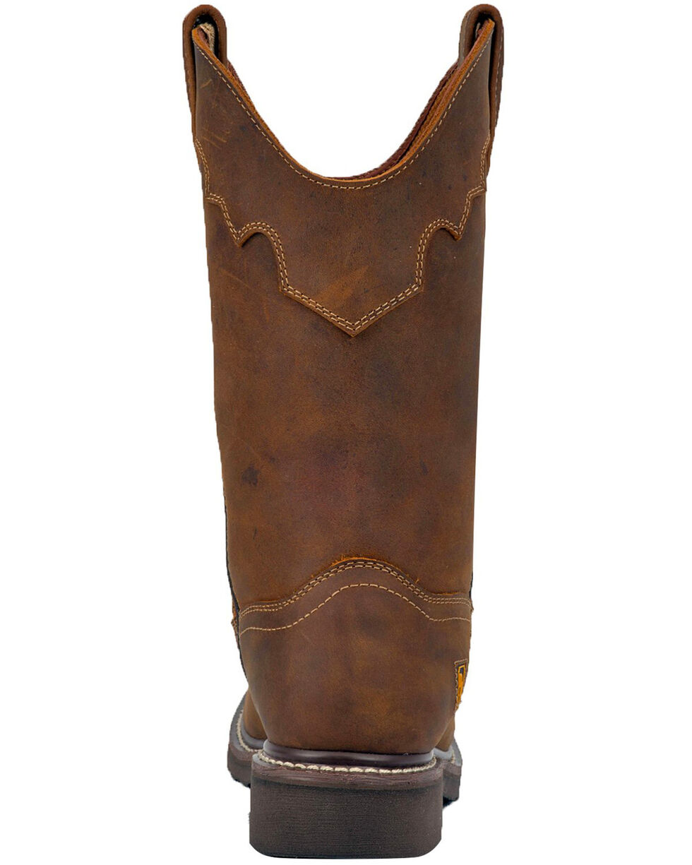 Dan Post Women's Parkston Western Boots - Wide Square Toe, Brown, hi-res