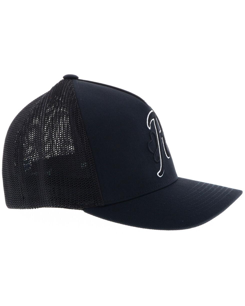 HOOey Men's Black Skipper FlexFit Cap , Black, hi-res