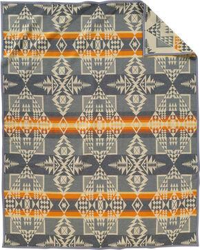 Pendleton Grey Arrowhead Blanket Robe, Grey, hi-res