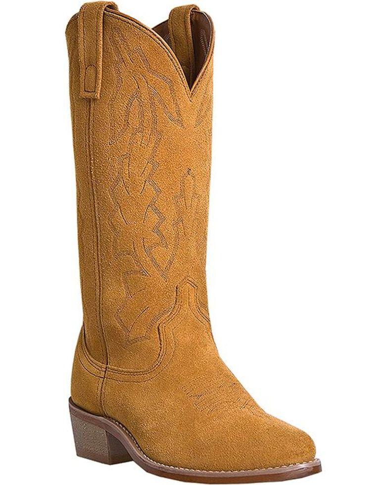 Laredo Men's Drew Suede Leather Cowboy Boots - Medium Toe, Tan, hi-res