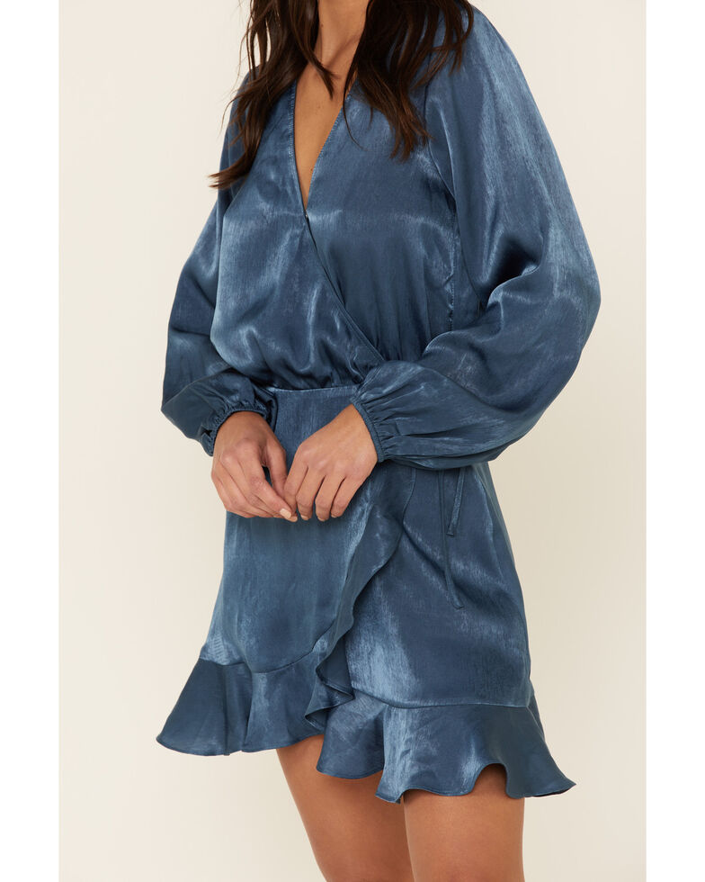 Sadie & Sage Women's Endless Romance Wrap Dress, Blue, hi-res