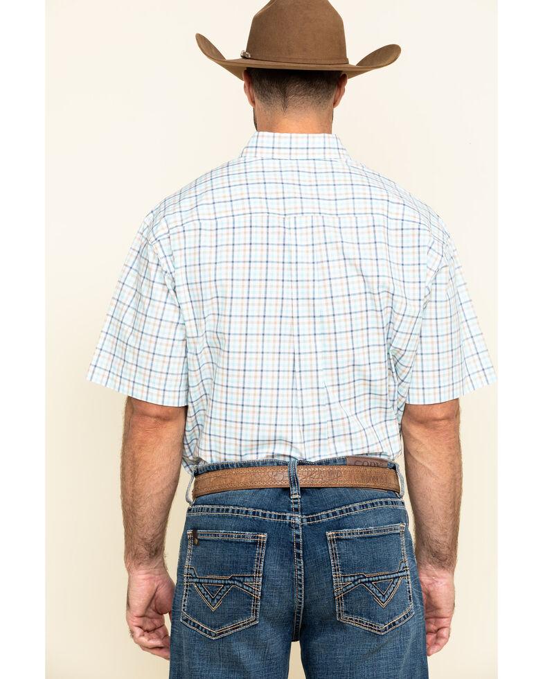 Cinch Men's White Small Plaid Button Short Sleeve Western Shirt , White, hi-res