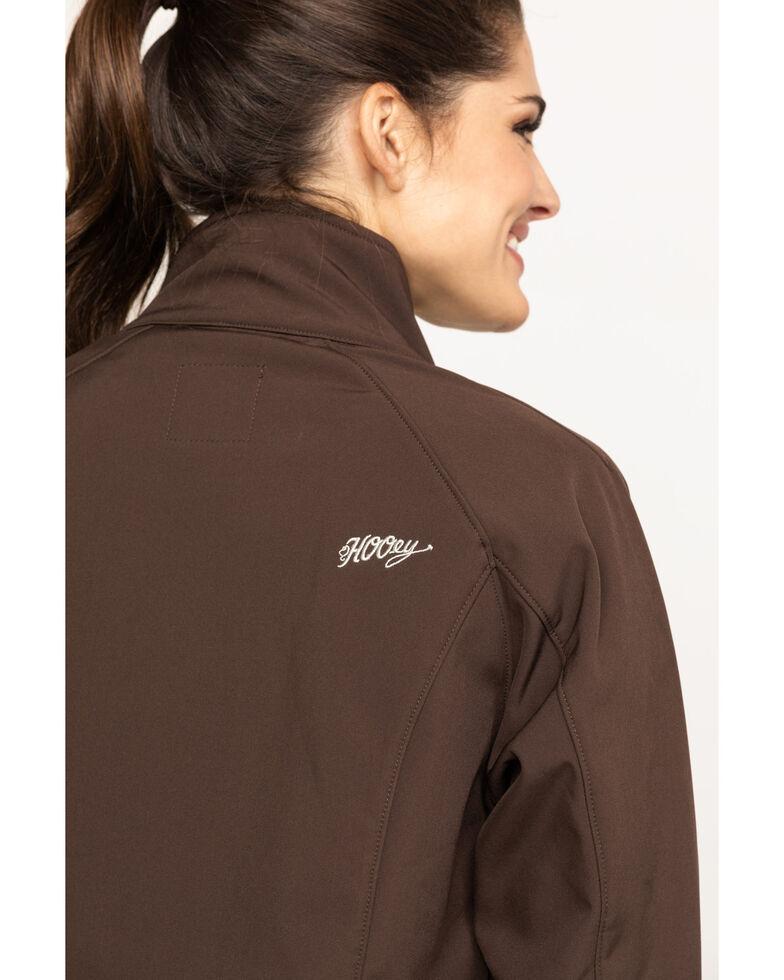 HOOey Women's Brown Solid Softshell Jacket, Brown, hi-res