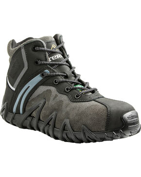 Terra Men's Black Venom Mid Work Shoes - Composite Toe, Black, hi-res