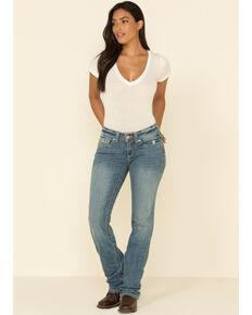 Ariat Women's R.E.A.L. Stevie Perfect Rise Bootcut Jeans, Blue, hi-res