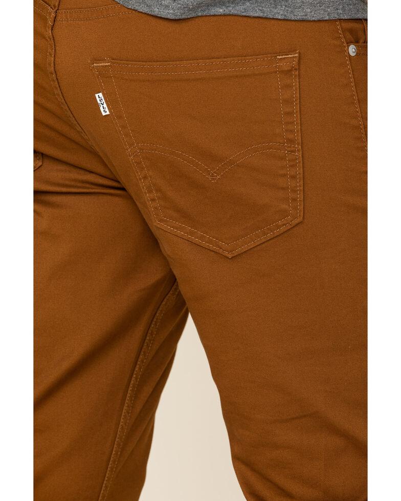 Levi's Men's 502 Monks Robe Tapered Regular Stretch Straight Leg Jeans , Chestnut, hi-res