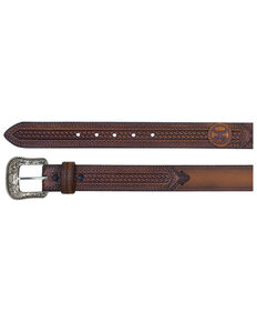 HOOey Men's Russet Lazer Cut Belt, Brown, hi-res
