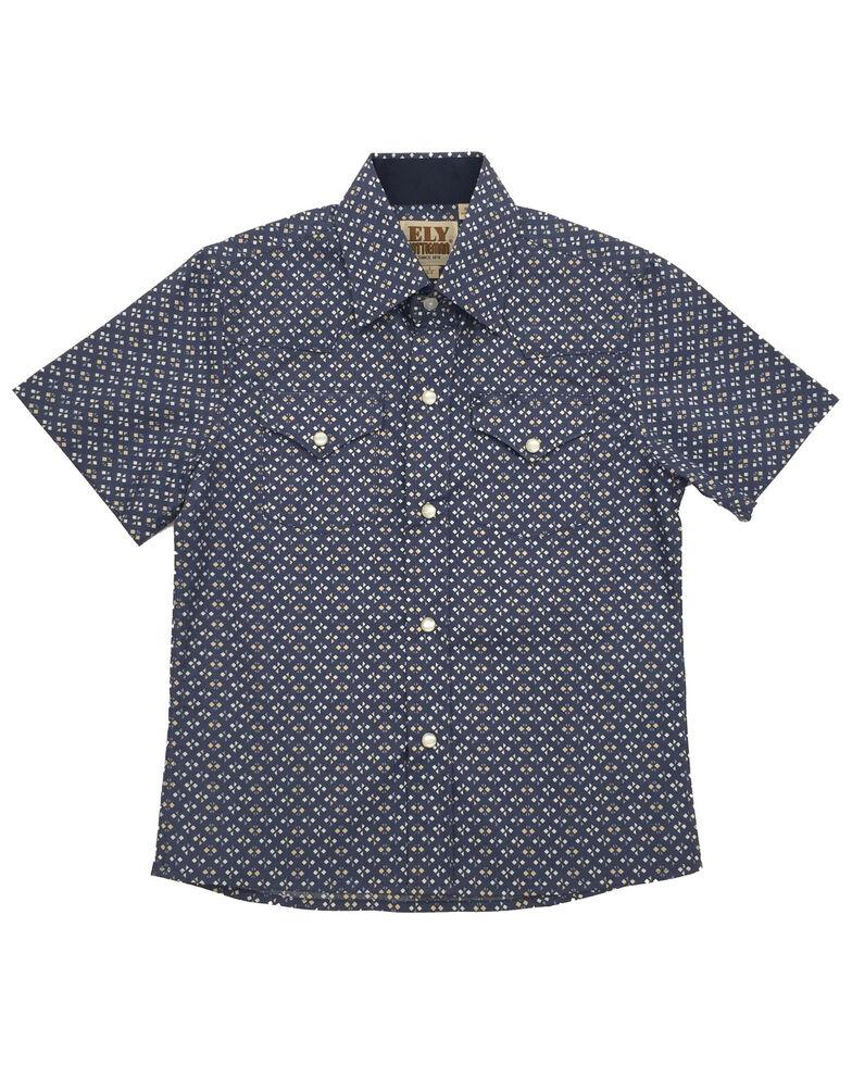 Ely Cattleman Boys' Woven Ditsy Print Short Sleeve Western Shirt , Multi, hi-res