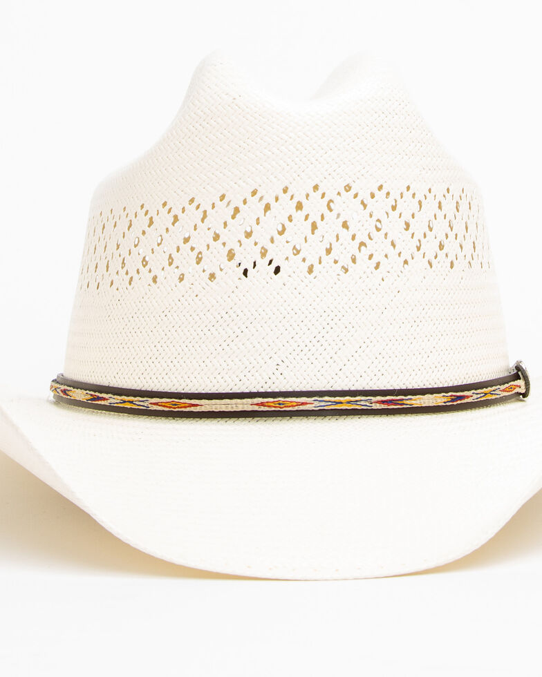 Cody James Men's 20X Low Cattleman Pro Rodeo Straw Hat, Natural, hi-res