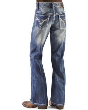 Rock & Roll Cowboy Boys' BB Gun Distressed Vintage Boot Cut Jeans, Denim, hi-res