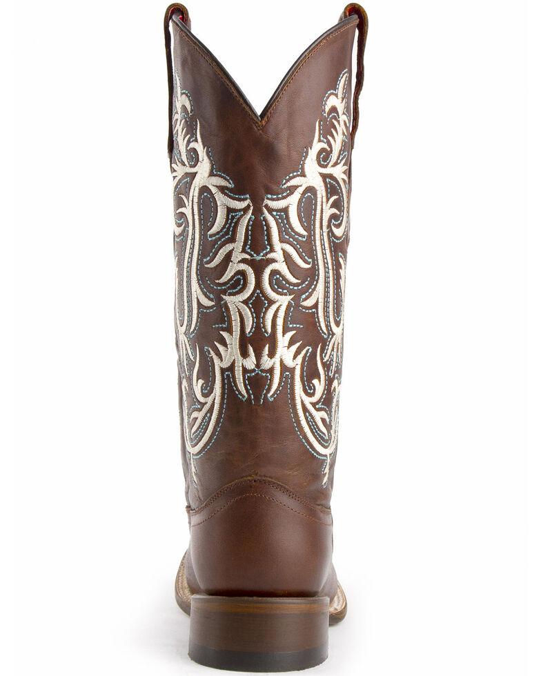 Ferrini Women's Roan Western Boots - Wide Square Toe, Brown, hi-res