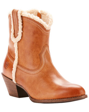 Ariat Women's Brown Darlin Fleece Boots - Medium Toe , Brown, hi-res