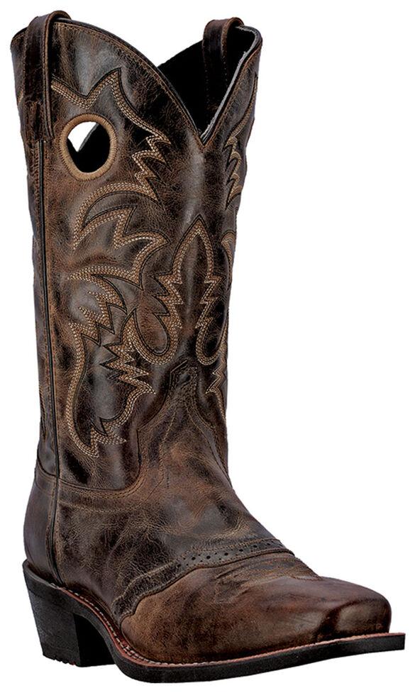 Laredo Men's Pequin Cowboy Boots - Square Toe, Taupe, hi-res