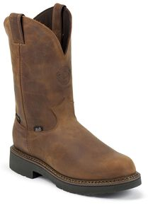 Justin Men's J-Max Balusters EH Waterproof Pull-On Work Boots -  Soft Toe, Aged Bark, hi-res