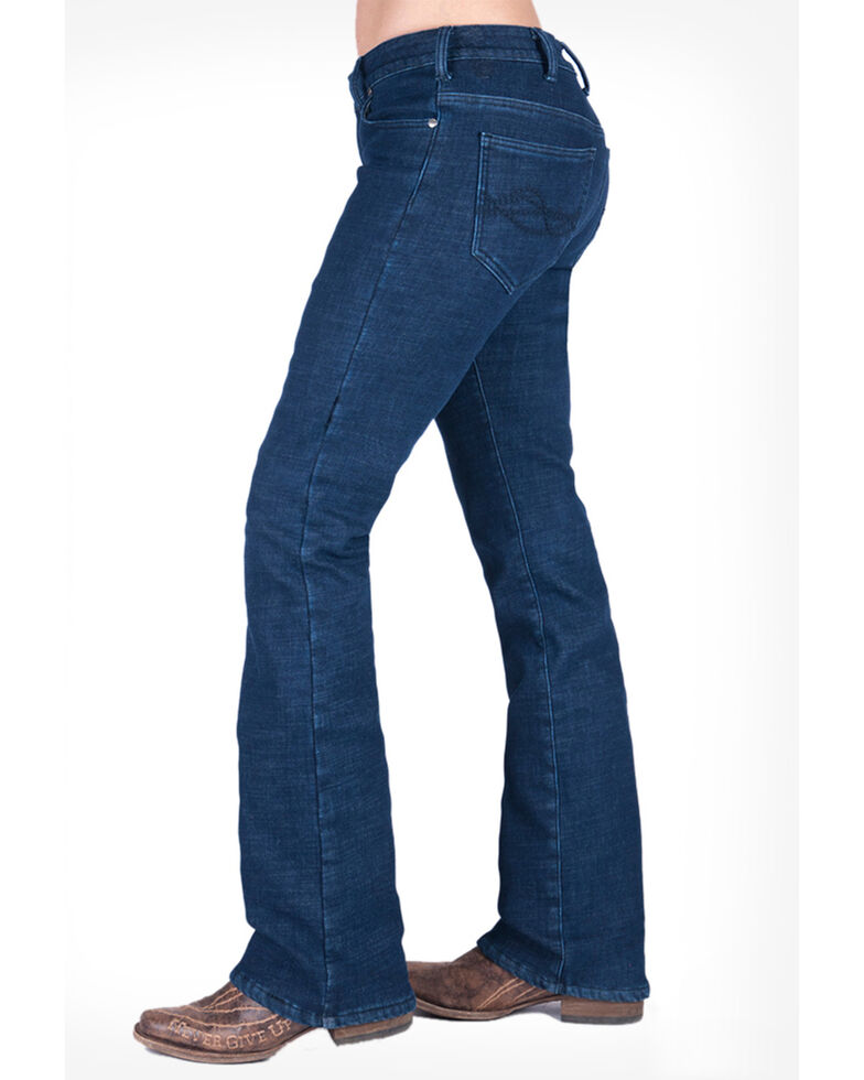 Cowgirl Tuff Women's Tuff Winter Jeans, Blue, hi-res