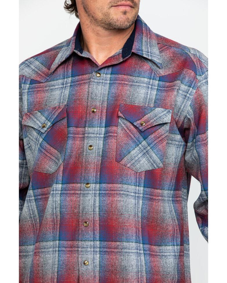 Pendleton Men's Multi Canyon Ombre Plaid Long Sleeve Western Flannel Shirt , Grey, hi-res