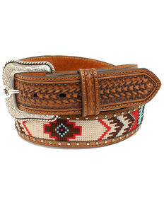 Ariat Men's Bright Fabric Western Belt, No Color, hi-res