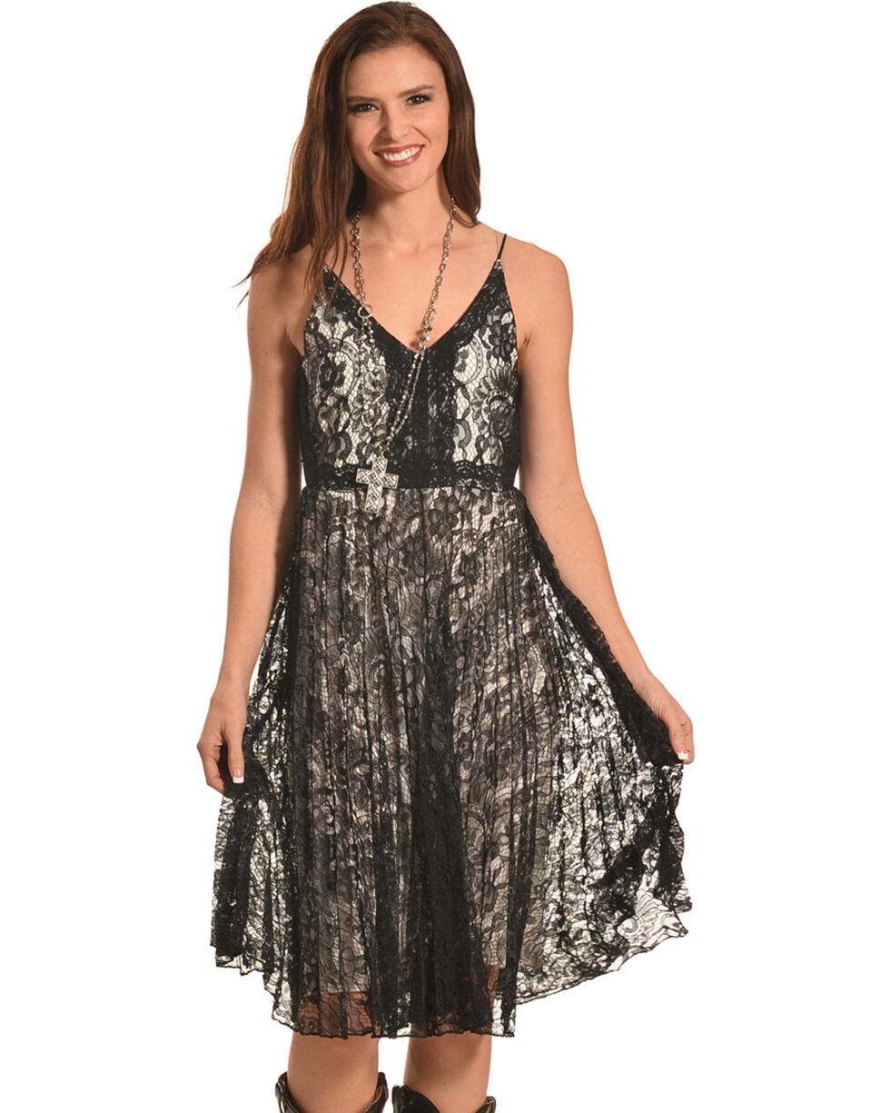 Black Swan Women's Black Lace Valerie Dress , Black, hi-res