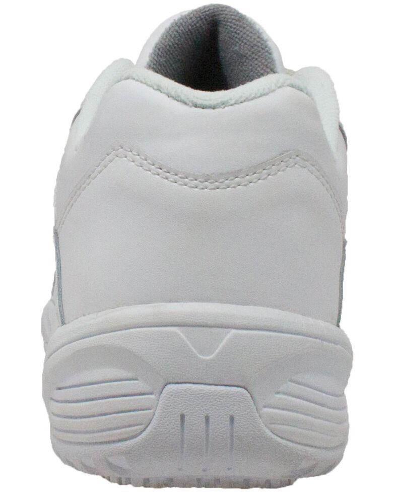 Ad Tec Men's Athletic White Adjustable Strap Uniform Work Shoes - Round Toe, White, hi-res