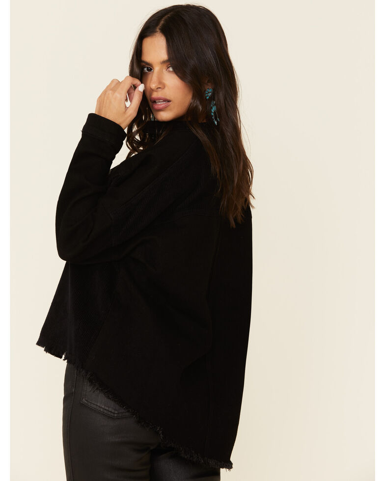 Boom Boom Jeans Women's Black Corduroy Denim Jacket , Black, hi-res