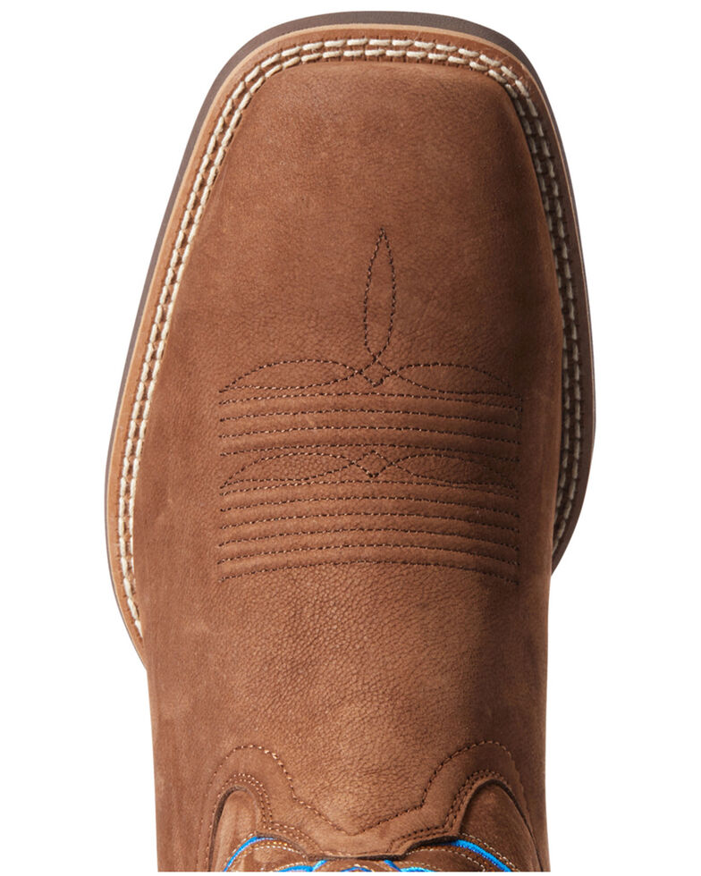 Ariat Men's Everlite Western Boots - Wide Square Toe, Brown, hi-res