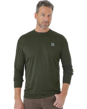 Wrangler Men's Green Riggs Crew Performance Long Sleeve T-Shirt - Big & Tall, Green, hi-res