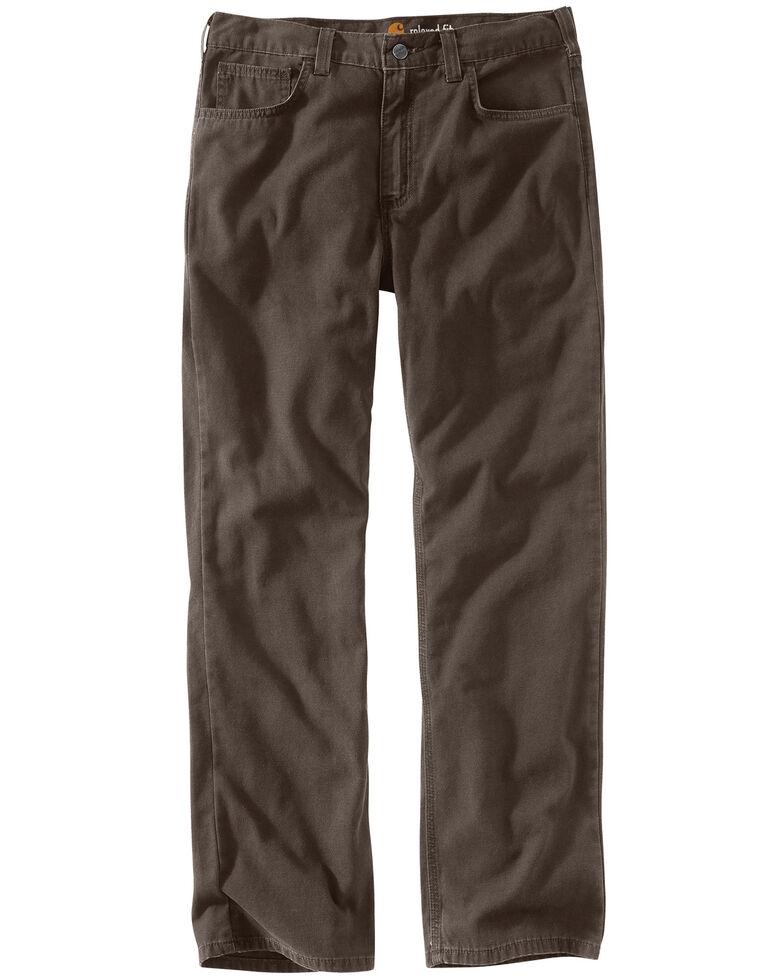 Carhartt Men's Rugged Flex Rigby Five-Pocket Jeans, Chocolate, hi-res