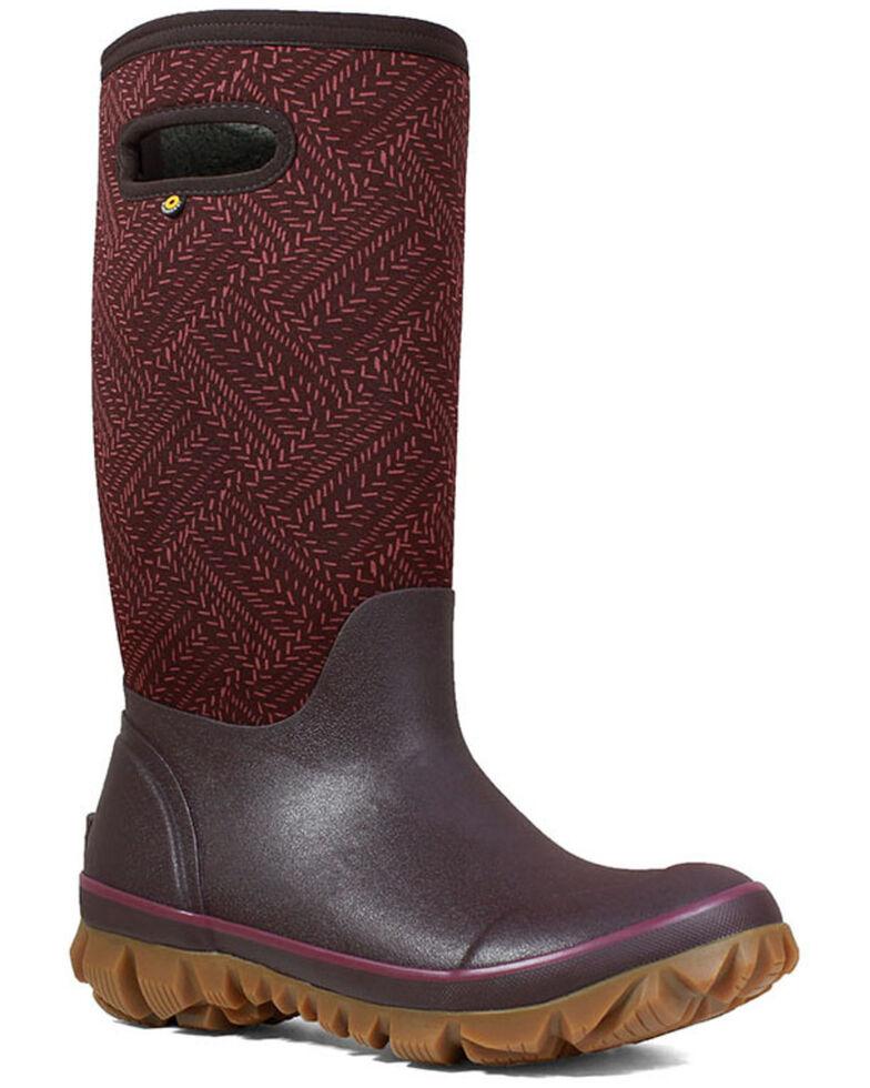 Bogs Women's Whiteout Fleck Rubber Boots - Round Toe, Grape, hi-res