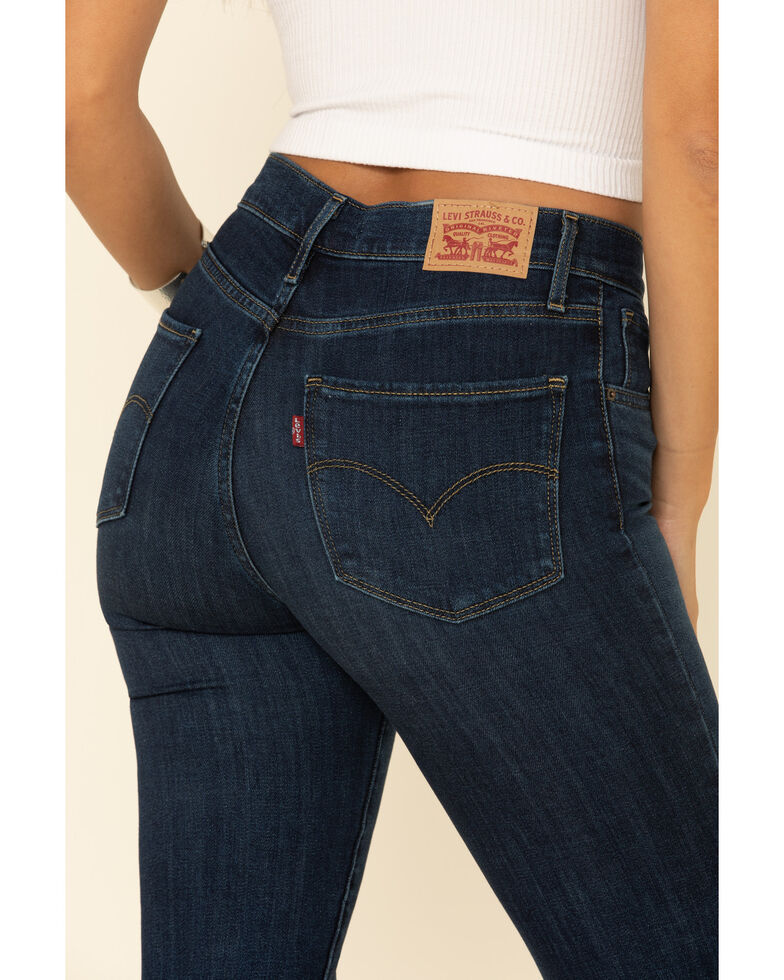Levi's Women's 724 High-Waisted Straight Crop Jeans, Blue, hi-res