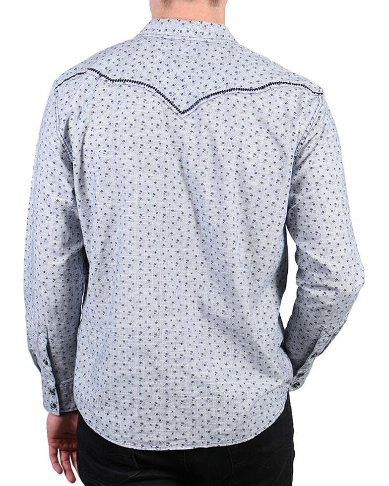 Moonshine Spirit Men's Grey Floral Long Sleeve Shirt , Grey, hi-res