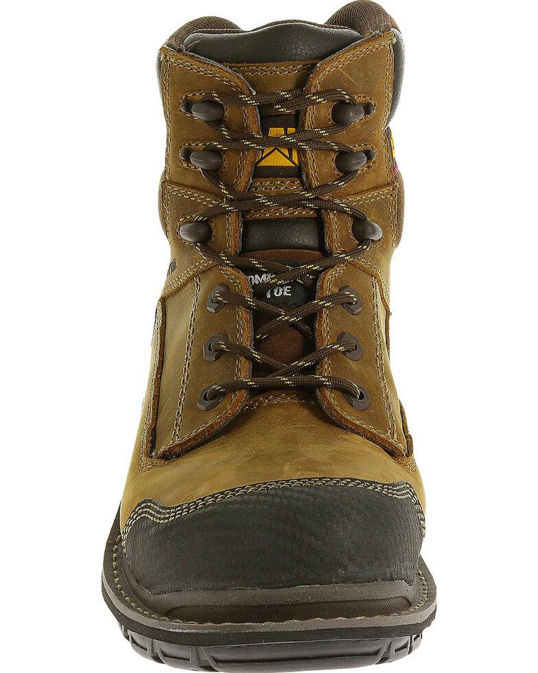 "Caterpillar Men's Brown Fabricate 6"" Tough Waterproof Work Boots - Soft Round Toe , Brown, hi-res"