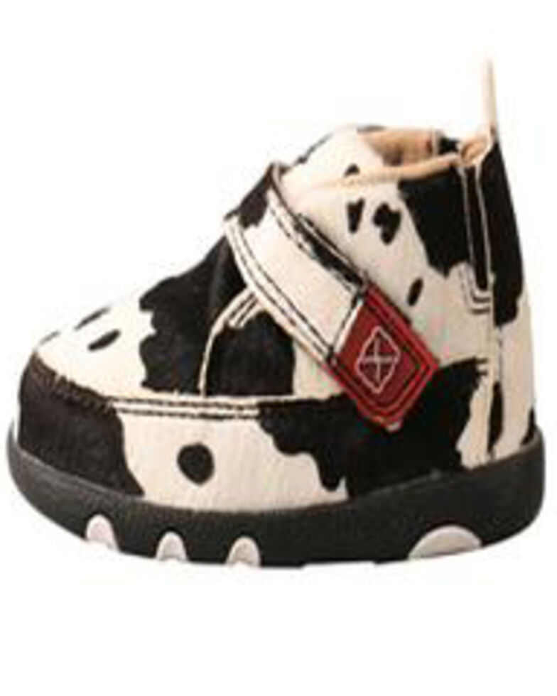 Twisted X Infant Hair On Hide Chukka Driving Mocs, Black, hi-res