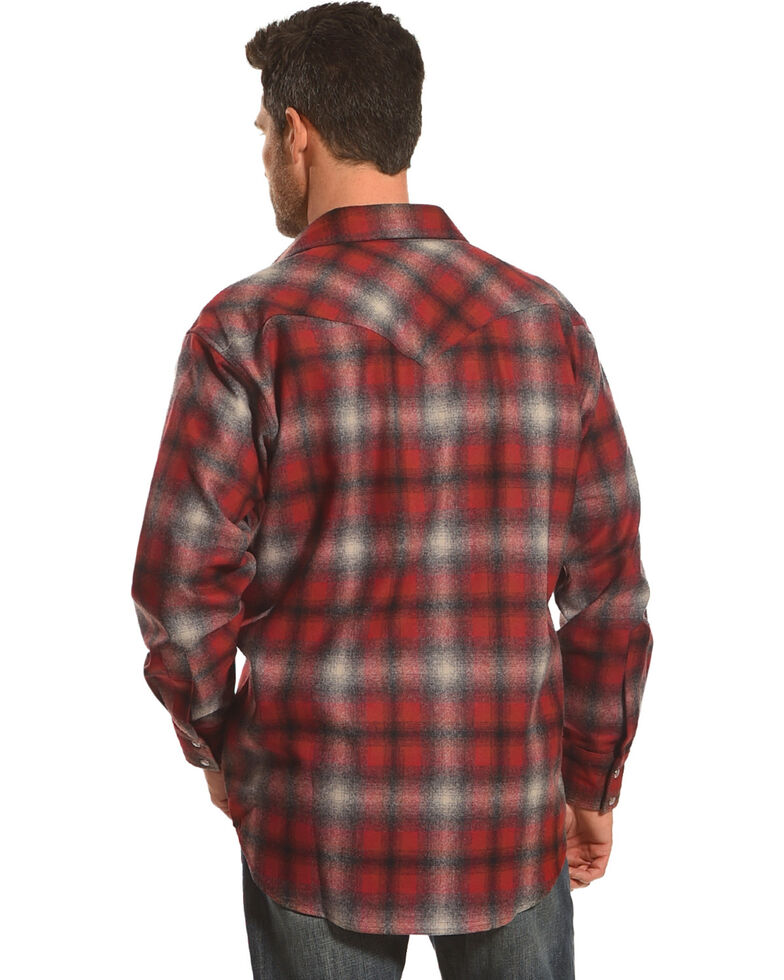 Pendleton Men's Red/Grey Canyon Ombre Long Sleeve Shirt Jacket, Red, hi-res