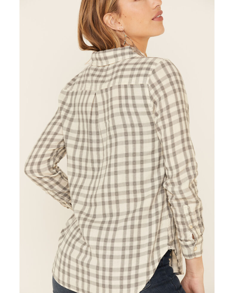 Flag & Anthem Women's Rowesville Plaid Long Sleeve Snap Western Core Shirt , Cream, hi-res