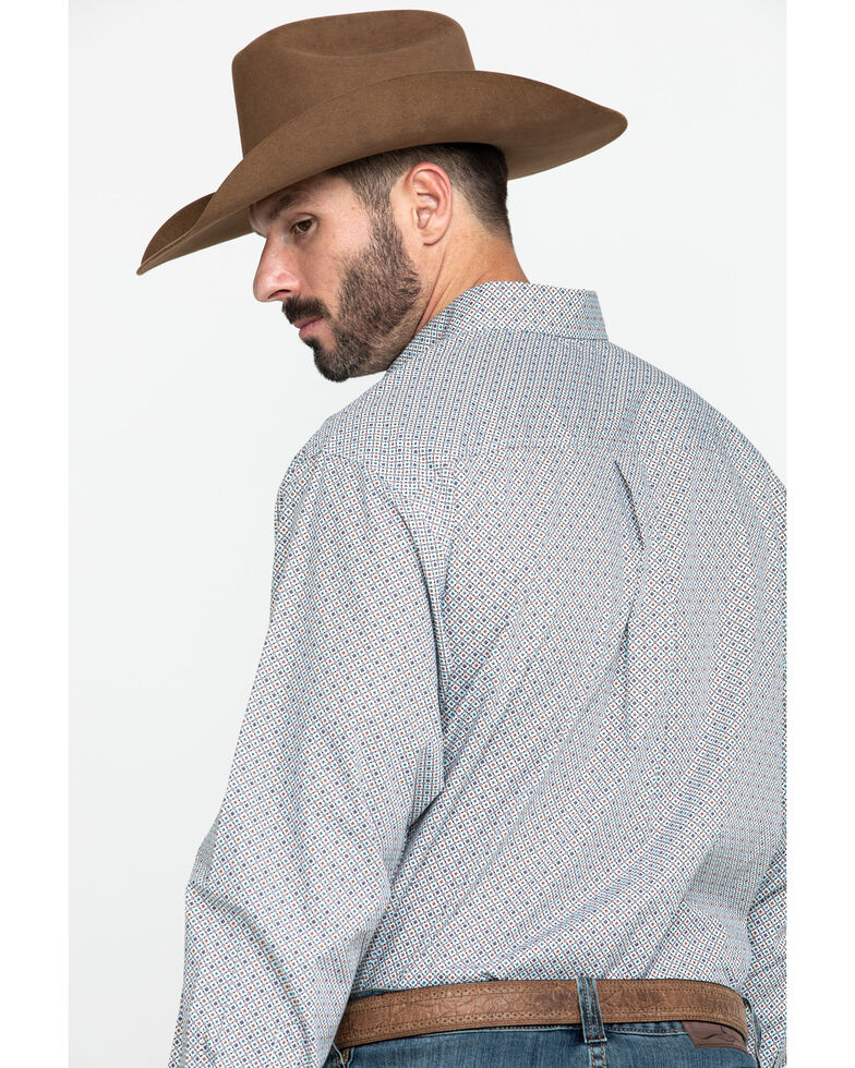 Cinch Men's Multi Small Geo Print Plain Weave Long Sleeve Western Shirt - Big , Multi, hi-res