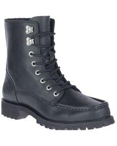 Harley Davidson Men's Black Brentmoore Lace-Up Moto Boots - Soft Toe, Black, hi-res
