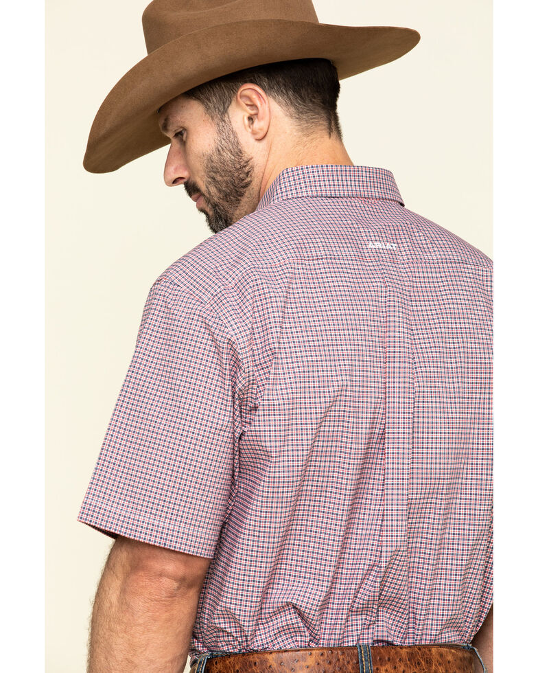 Ariat Men's Sherwood Stretch Small Plaid Short Sleeve Western Shirt , Multi, hi-res