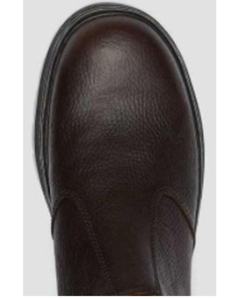 Dr. Martens Women's Hardie Bear Track Chelsea Boots - Round Toe, Dark Brown, hi-res
