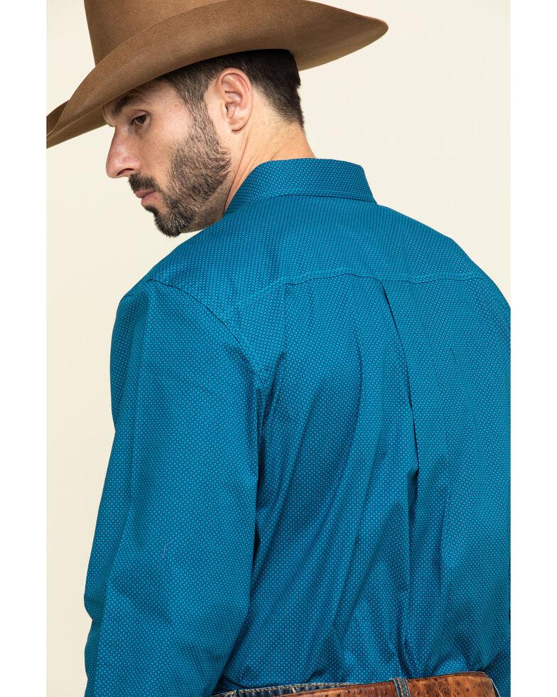 Cody James Core Men's Ringfield Micro Geo Print Long Sleeve Western Shirt - Big , Black, hi-res
