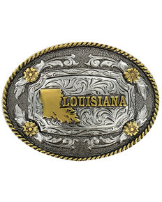 Cody James Men's Antiqued Oval Louisiana Belt Buckle, Multi, hi-res